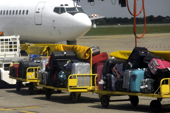 bagaż rejestrowany wyładowany z samolotu