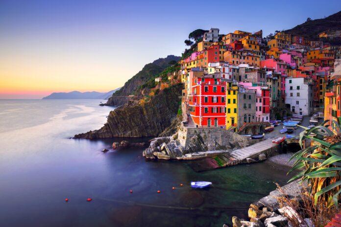 Kolorowe Riomaggiore Liguria we Włoszech