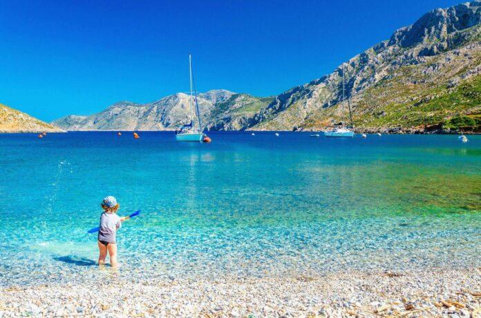 Plaża na wyspie Kos w Grecji