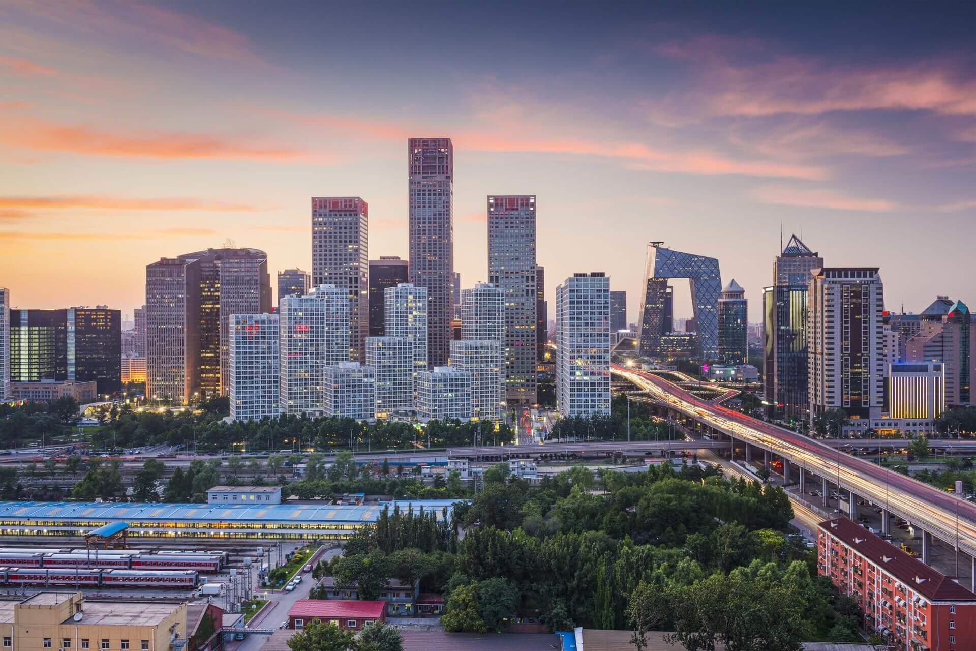 wieżowce w Pekinie