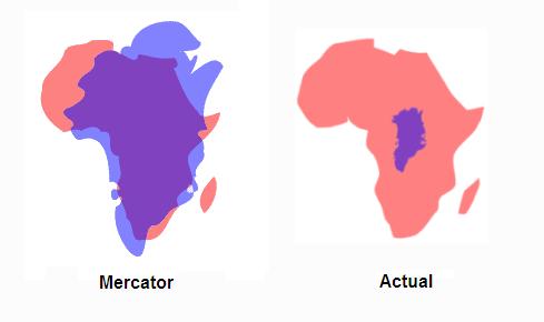Grenlandia vs Afryka. Mapa Merkatora w porównaniu z rzeczywistością