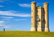 Broadway Tower w Cotswolds w Anglii
