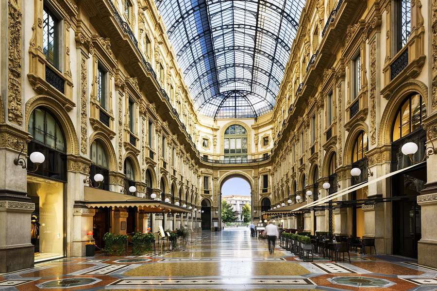 Glass-dome-of-Galleria-Vittorio-Emanuele-in-Milan-Italy-shutterstock_353852582