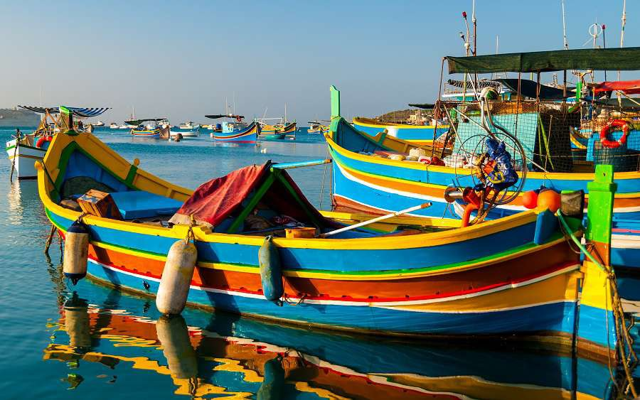 Colored-fishing-boats-Malta-shutterstock_159460952