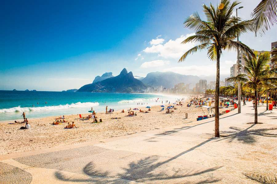 Palms-and-Two-Brothers-Mountain-on-Ipanema-beach-in-Rio-de-Janeiro.-Brazil-shutterstock_318248558