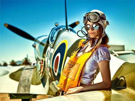 kobieta pilot