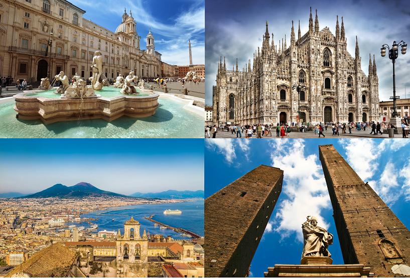 Lato 2015: objazdówka po Włoszech za 227 zł! 4 miasta w jednej podróży.