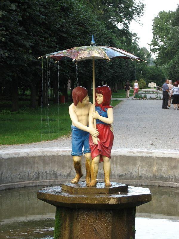 Fontanna Jaś i Małgosia w Ciechocinku